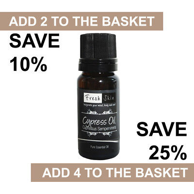 Cypress Essential Oil 10ml - 100% Pure & Natural Essential Oils - Aromatherapy