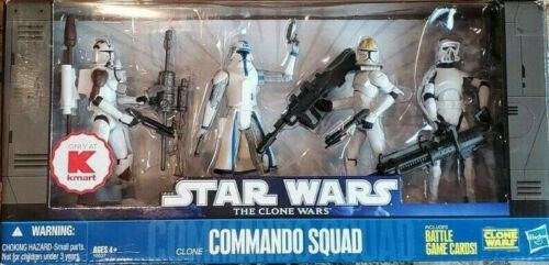 Commando Squad Battle Packs STAR WARS The Clone Wars TCW MIB K-Mart Exclusive