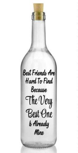 Best Friends Are Hard To Find DIY Wine Bottle Vinyl Decal Sticker