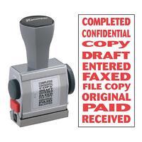 Xstamper Pre-inked Stamp 10 Phrases 3/16x1-1/2 Red 81041 on sale