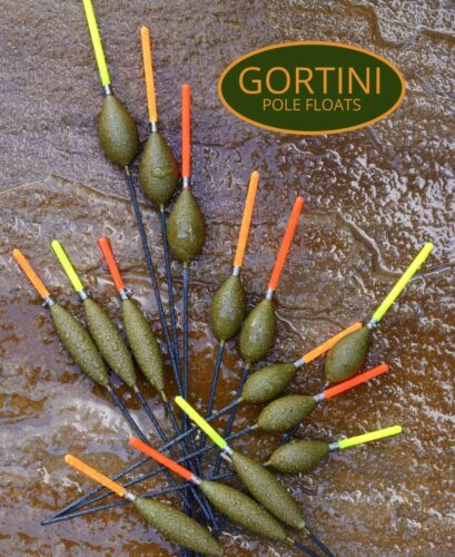 GORTINI POLE FLOATS logo fishing green hand towel cotton with metal clip hook