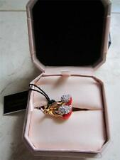 NEW IN BOX JUICY COUTURE PAVE DOUBLE CHERRY HEART RING SZ 8  FOR YOUR VALENTINE