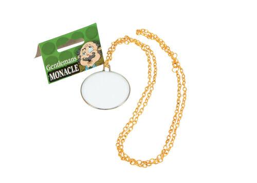 Gentleman/'s #Victorian Edwardian Monocle On Gold Chain Fancy Dress Accessory