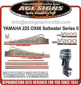 Yamaha 200 ox66 v6 saltwater series ii outboard decals for Yamaha saltwater series ii