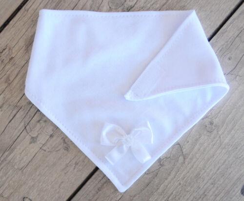 Sabbertuch Baby Tuch Latz Dreieckstuch Lätzchen Weiß Creme Taufe Halstuch NEU