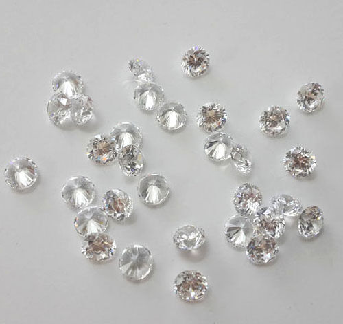 [10 to 500 Pcs] 4,5,6,9 mm Cubic Zirconia Loose Round Faceted Sparkling Cut