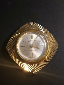 Vintage Lucerno Mother Teresa Necklace Watch Antimagnetic Gold Swiss Made Rare
