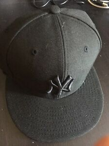 2a8bce01 Details about New New Era 59FIFTY New York Yankees FITTED Hat Cap 6 7/8  Never Worn Black
