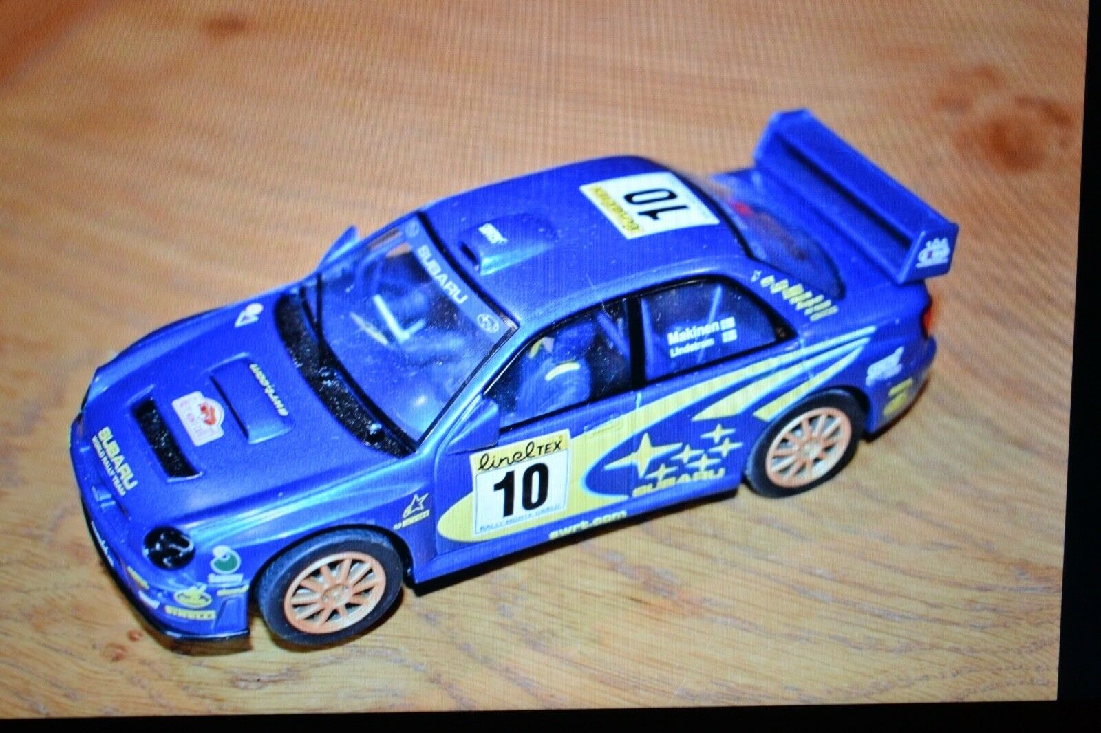 Scalextric - Subaru Impreza - Rally Car - bluee - No. 10 Makinen Lindstrom
