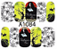Nail-Art-Stickers-Transfers-Decals-Halloween-Ghosts-Bats-Pumpkins-Skulls-Blood miniatuur 7