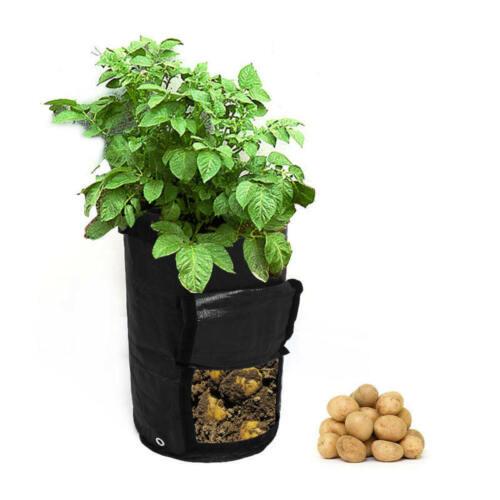 Respirant planteuse de pommes de terre Sac Légumes la croissance des plantes Sac de jardin Noir Grow Bags