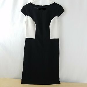 2ff66ca230d Black Label by Evan Picone Womens Size 6 Sheath Dress Black White