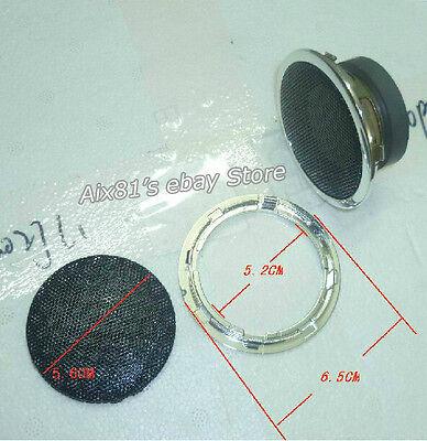 "Speaker Decorative Circle + Speaker Wire Mesh Grill for 2"" inch 52mm Speaker DIY"