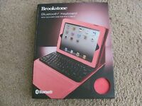 Brookstone Bluetooth Keyboard W/ Tech-grip Case For Ipad Tablets (2/3/4gen) Pink