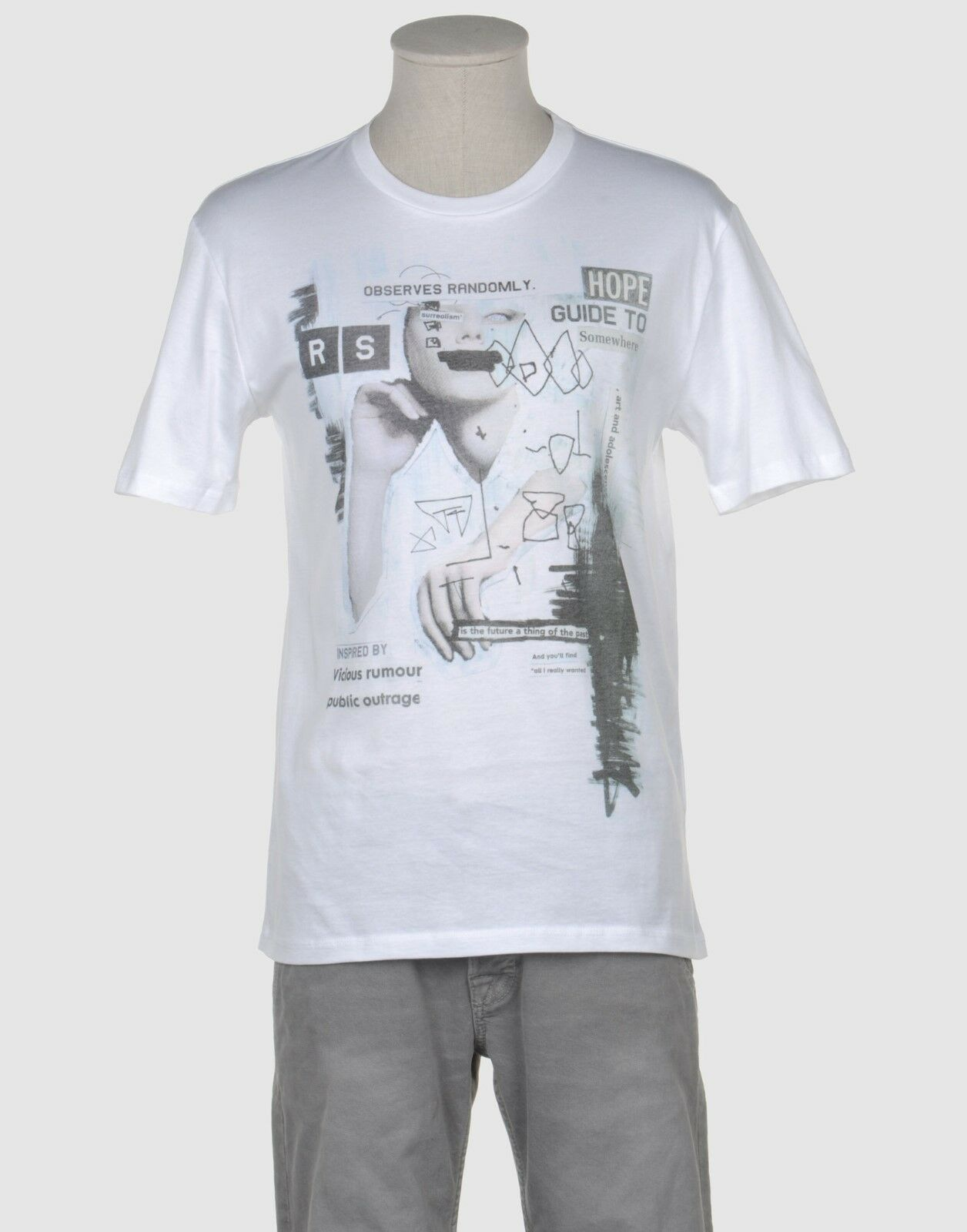 RAF by Raf Simons TS40 Fabric JR15 Surreal T-Shirt New With Tags - UK Small & XS