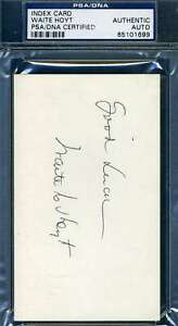 Waite-Hoyt-PSA-DNA-Coa-Autograph-Hand-Signed-3x5-Index-Card