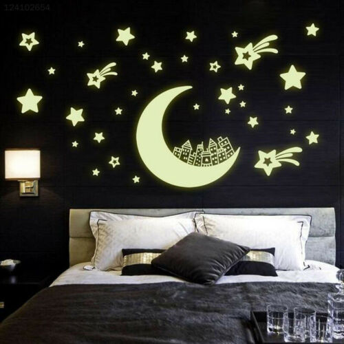 6F12 Moon Castle Noctilucent Wallpaper Refrigerator Children'S Room Removable
