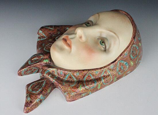 Ceramica LENCI maschera muro.