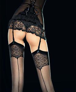 Bas Sexy Nylon Couture Fiore Pour Portejarretelles Femme T T T - Femme en porte jarretelle