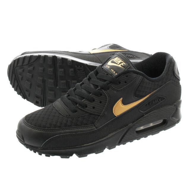 Nike Air Max 90 Essential BlackMetallic Gold (AV7894 001)