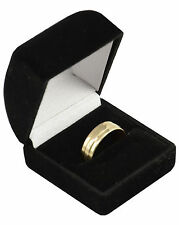 3 x Luxury Black Velvet Ring Boxes -Jewellery Display Storage Ring Wedding Boxes