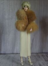 "Allfordoll RED FOX FUR wool COAT for 16"" Tonner Numina Dollcis BJD Ficon Doll"