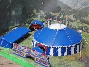 Circus-Krone-Spur-H0-Circuszelt-Bausatz-fuer-Modellbahn-Anlage-Circus-etc