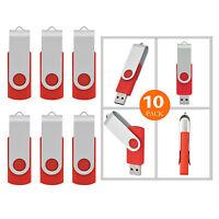 10x 16gb Memory Sticks Usb 2.0 Flash Drives Enough Storage U Drives 2.0 Red