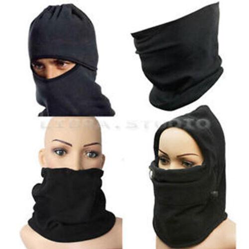 Fleece Winter Thermal Balaclava Scraf Ski Motorbike Bike Face Mask Hood Hat Cap