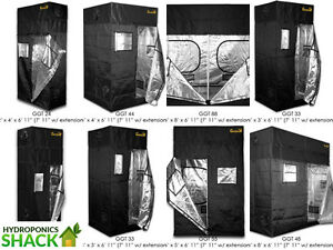 Image is loading Gorilla-Grow-Tent-Room-Kit-Hydroponics-Silver-Lined- & Gorilla Grow Tent Room Kit Hydroponics Silver Lined + FREE Height ...