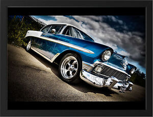 1958-CHEVROLET-BEL-AIR-NEW-A3-FRAMED-PHOTOGRAPHIC-PRINT-POSTER