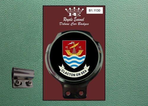 Royale Classic Car Badge /& Bar Clip CLACTON on SEA Mod B1.1130