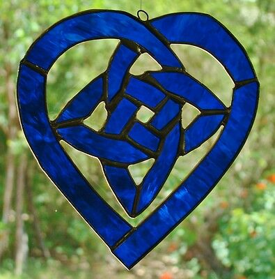 Multi Coloured CELTIC LOVE KNOT stained glass SUNCATCHER Handmade /& Crafted GIFT