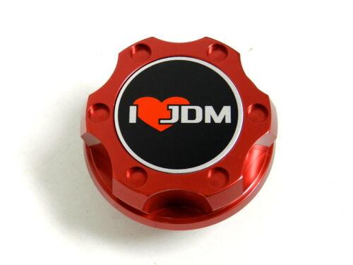 RED I LOVE JDM BILLET CNC RACING ENGINE OIL FILLER CAP FOR HONDA ACURA