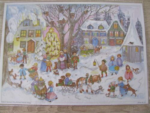 Nostalgischer Advenskalender A4 mit Glimmer von Sellmer