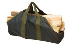 Heavy Duty Canvas Firewood Log Tote By SC Lifestyle, New, Free Shipping