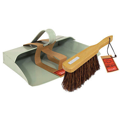 "Bentley English Heritage Home Cleaning Metal 11"" Dustpan and Stiff Brush Set"