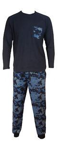 Mens-Blue-Camouflage-Pyjama-Set-in-Gift-Bag-Christmas-Stocking-Filler