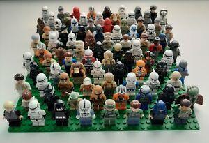 Lego-lot-of-4-Random-Star-Wars-Minifigures-Clones-Stormtroopers-Jedi-Rebels-RARE