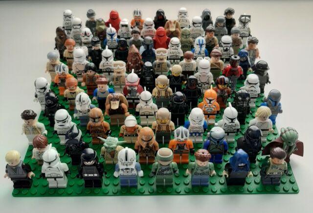 Lego lot of 4 Random Star Wars Minifigures Clones Stormtroopers Jedi Rebels RARE