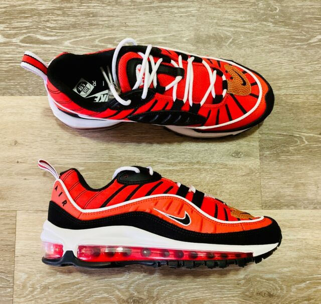 Nike Air Max 98 GS Habanero Red White Black Bv4872-601 Youth 7y ...