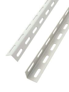 Montanti Scaffali Metallici.Dettagli Su Montanti Angolare Mm 35x35 Per Scaffali Metallici A Bullone Altezza 250 Cm