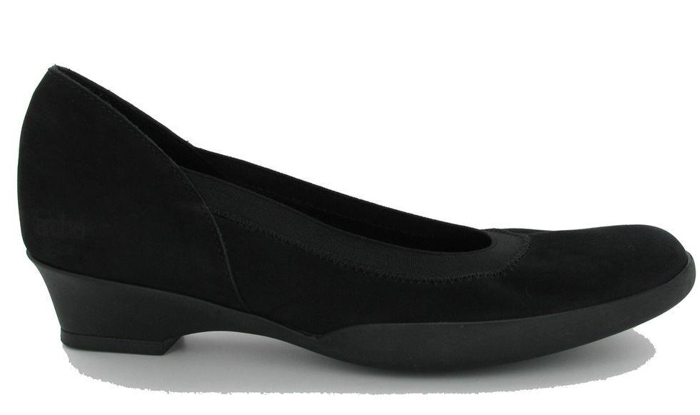 Arche Black Flava Nubuck Suede Round Round Round Toe Platform Wedge Flats Size 36 841b62