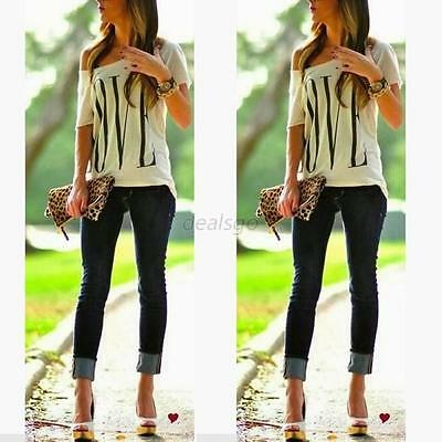 Korean Fashion Women's Loose Cotton Tops Short Sleeve T Shirt Casual Blouse D45