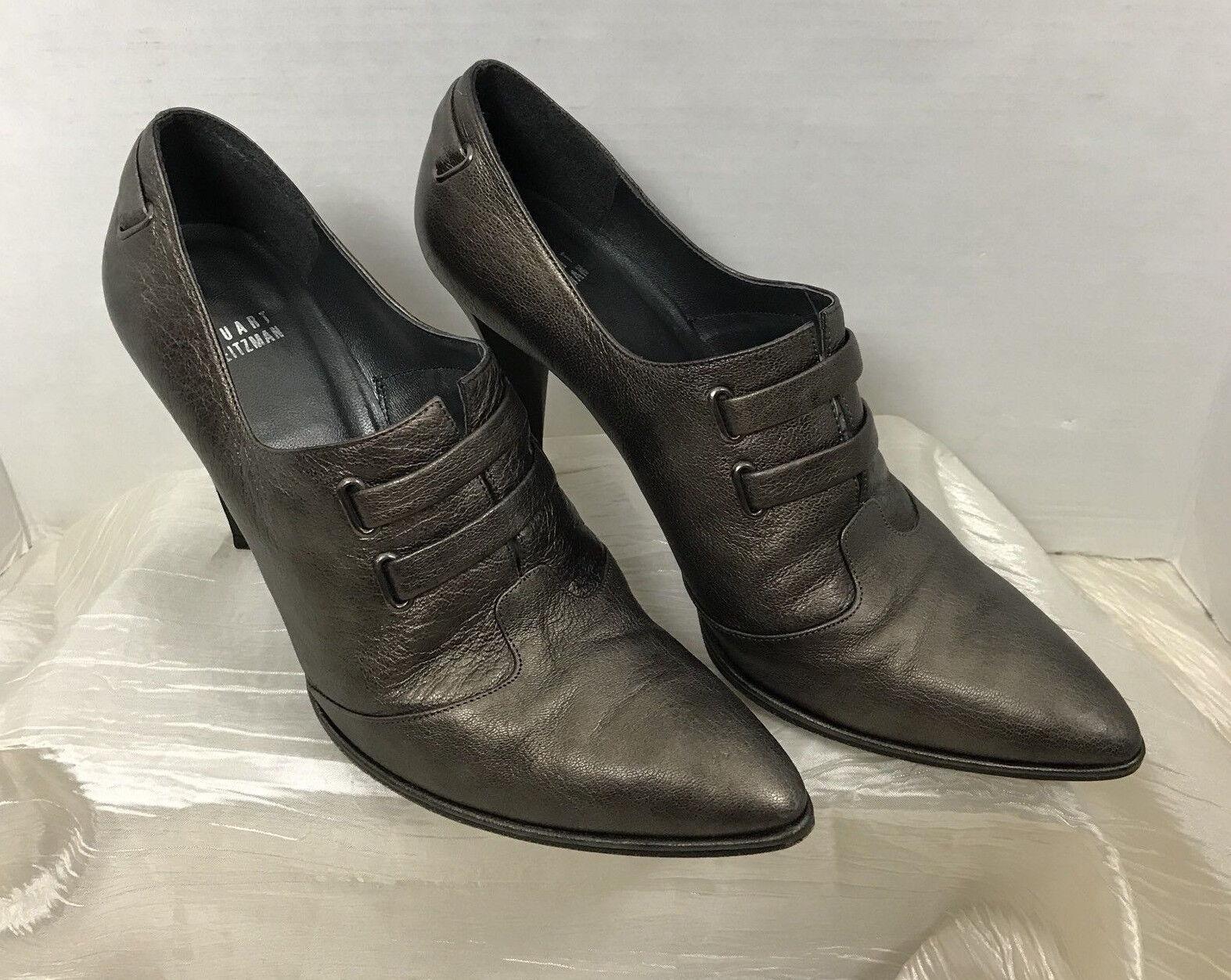 Stuart Weitzman Chaussures Talons strapado Jasper PERLE LAMA Métallique Femme Taille 10