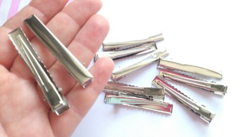 pelo encontrar espacios en blanco 46mm Pinza Cocodrilo En Blanco Para arcos del pelo Craft Supplies