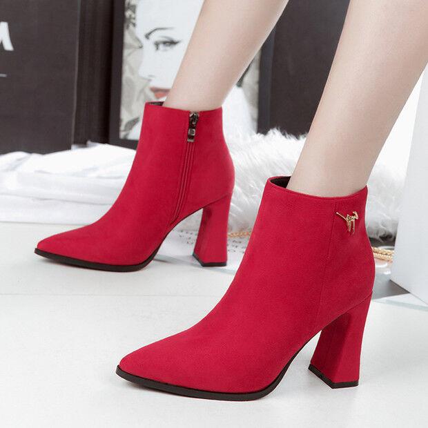 botas bajo zapatos tacón de aguja 9 cm rosa elegantes como piel 9606