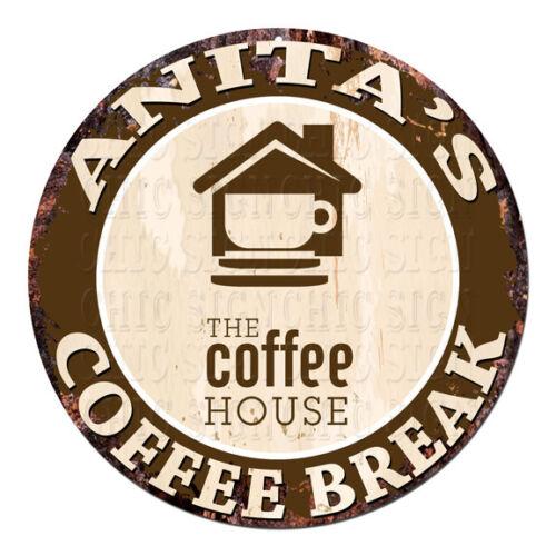 CWCB-0136 ANITA/'S COFFEE BREAK Chic Tin Sign Decor Gift Ideas
