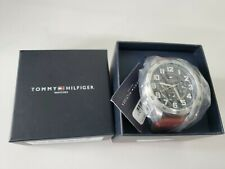 almohadilla Todavía Imperial  Tommy Hilfiger Original 1791066 Men's Brown Leather Watch 46mm for sale  online