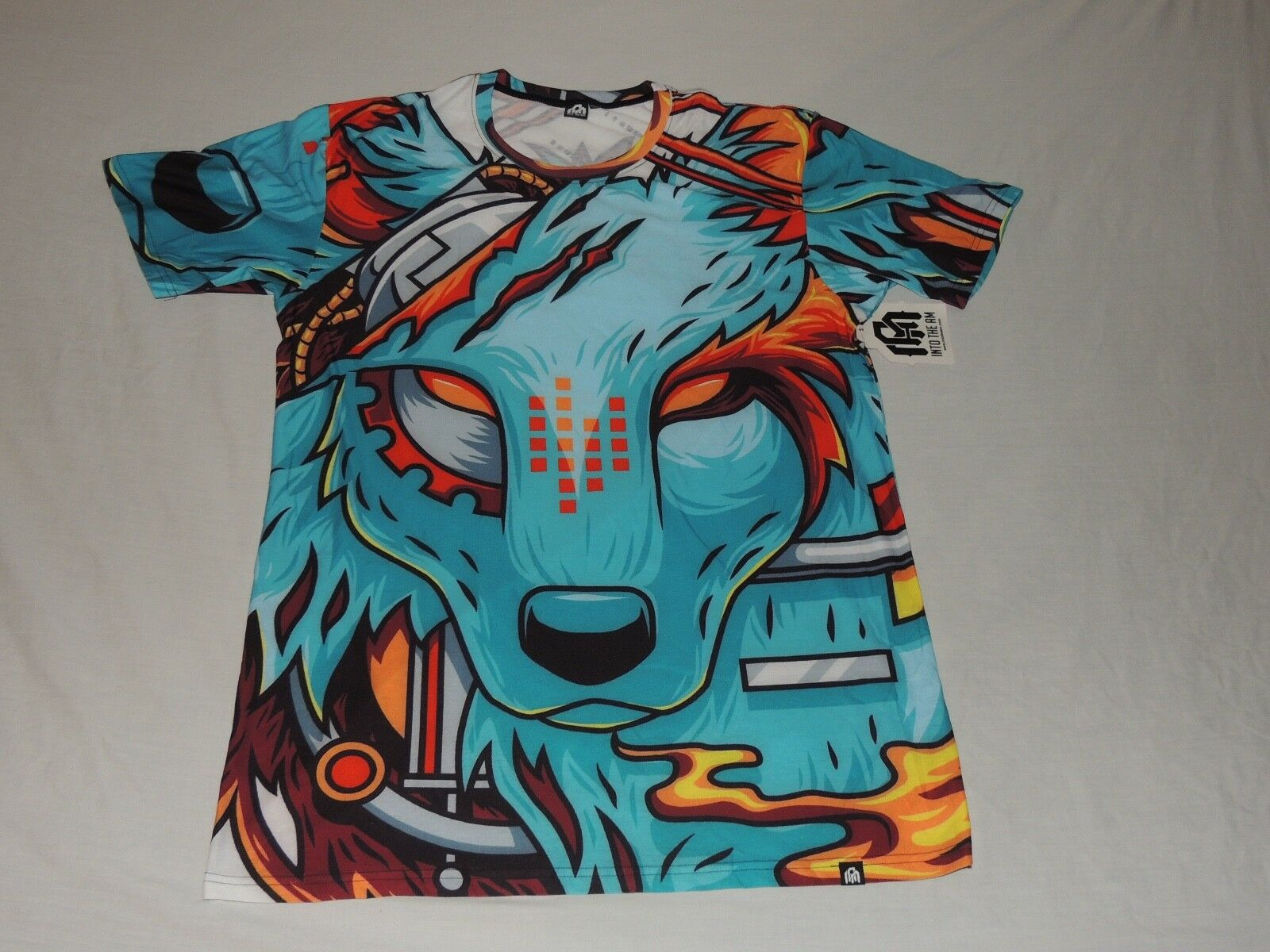 DIGITAL ARCTIC WOLF SHIRT - 3XLT - INTO THE AM - LIMITED EDITION RAVE SHIRT TALL